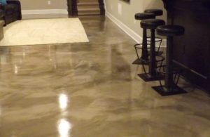 Beautiful epoxy flooring in a residential home located in Oceanside, California